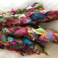 Recycled silk ribbon Multicolour