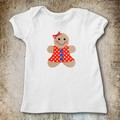 Gingerbread Girl Applique Template, PDF Pattern, Girls Applique Designs DIY