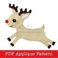 Reindeer Applique Template Christmas Reindeer Applique Pattern PDF