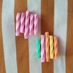 Musk Sticks & Fruity Musk Sticks Polymer Clay Brooch