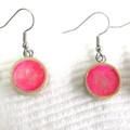 Resin Drop Pink Earrings