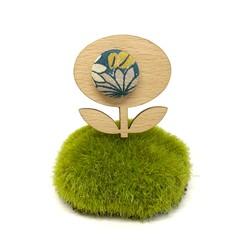 Flower Brooch - Teal Green Blossom