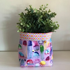 Large fabric planter | Storage basket | JELLYFISH & RETRO