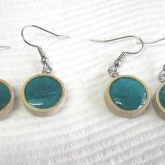 Resin Drop Deep Turquoise Earrings