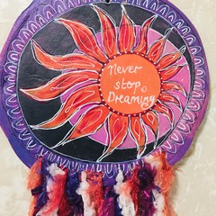 Whimsical Clay Dreamcatcher with Mantra