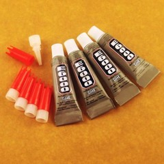 4 x E6000 Craft Strong Super Glue Adhesive and Applicator Tips - 3ml or 0.1fl oz