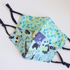 Child Washable  face mask  Reversible  Face cover  3 ply