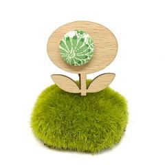 Flower Brooch - Green Blossom