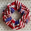 Large USA flag - scrunchies - ladies - children