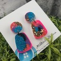 Cindy Pop Pebble  Drop Resin - Stud Dangle earrings