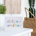 Girl Birthday Card, Bright Birthday Candle Card, Card for Girls, HBC258
