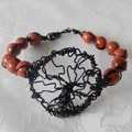 wired Red Jasper Bracelet