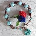 Blue wired Bracelet
