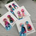 Cindy Pop Pebble  Drop Resin - Stud Dangle earrings