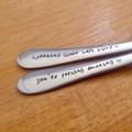 Custom Still Spooning Spoon, You're Forking Amazing Fork, Wedding Anniversary,