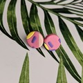 Funky 80s Small Round  Studs