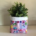 Large fabric planter   Storage basket   JELLYFISH & WHITE