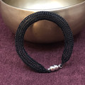 Bracelet - Black Tubular Knitted Wire