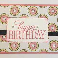 Birthday Handmade Card - Donuts