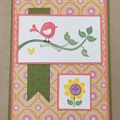 Hello there Handmade Card - all occassion / birthday / baby card