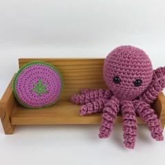 Crochet Octopus Softie | Wool & Bamboo | Gift Idea | Hand Crocheted | Pink