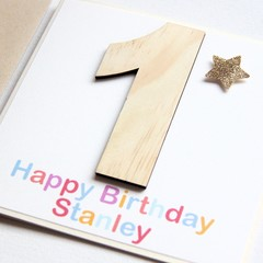 Any Age Personalised Birthday Card For Kids, Custom Made Handmade Birthday Card