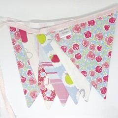 Fabric Bunting Kitchen Tea, Party, Engagement Decoration.