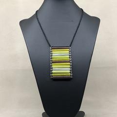 Pendant Necklace - Vintage Czech Glass Beads