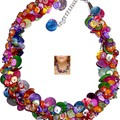 Wonderful colour shell necklace