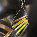 Earings 'Aida' (variation) - Vintage Czech Glass Beads