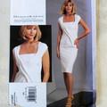 Vogue V1087 Donna Karan dress pattern. Sizes 12 - 18. Uncut pattern