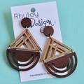 Wooden Statement Earrings