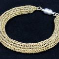 Bracelet - Gold Tubular Knitted Wire