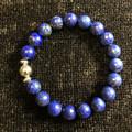 Men's Gemstone Bracelet (Lapis Lazuli with Silver Accents)