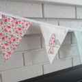 Fabric Bunting Wedding, Birthday, Kitchen Tea, Party, Engagement Decoration.