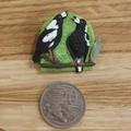 Handmade Brooch - Warbling Magpies