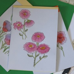 Watercolour Notepad - Flowers in Pink