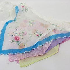 "Vintage Hanky Bunting Wedding, Engagement, Party Boho ""FREE POSTAGE"""