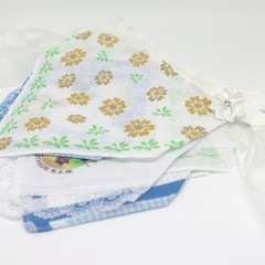 Vintage  Hanky Bunting- Wedding Party Engagement Boho  *FREE POSTAGE*