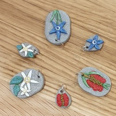 Australian Native Birthflower Necklaces - January, February, March