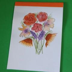 Watercolour Notepad - Flower Bunch