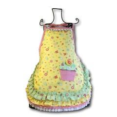Yellow Garden Cupcake Girls apron