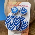 Royal Blue and White earrings