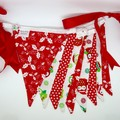 'Christmas in July' Fabric Bunting Christmas Owls