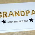 Dad Happy Birthday card or Fathers Day - gold balloons