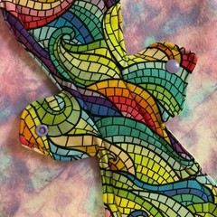 "12"" (30.5cm) Rainbow super cloth pad (cloth pads category)"