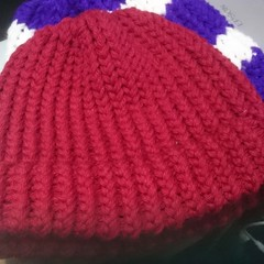 Beanie with Band - Adult Size (small-med)