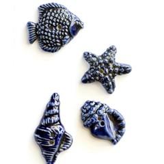 Handmade ceramic craft pieces  NO HOLES