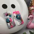 Rectangle CINDY POP  Glitter Resin - MEGA Dangle earrings