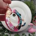 Donut CINDY POP  Glitter Resin - MEGA Dangle earrings